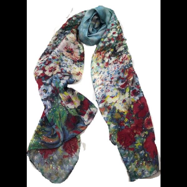 Top Quality Silk Scarf TTP47A BLUE