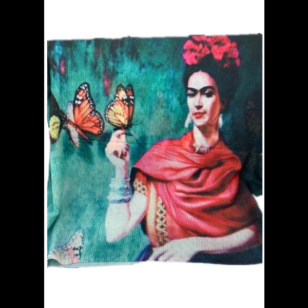 Digital Print Fine Cotton Frida Scarf TTPC39
