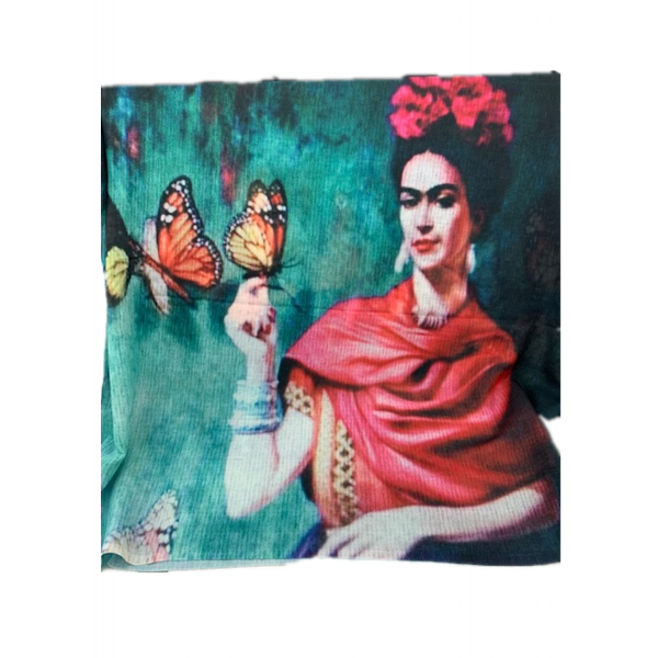 Digital Print Fine Cotton Frida Scarf TTPC39