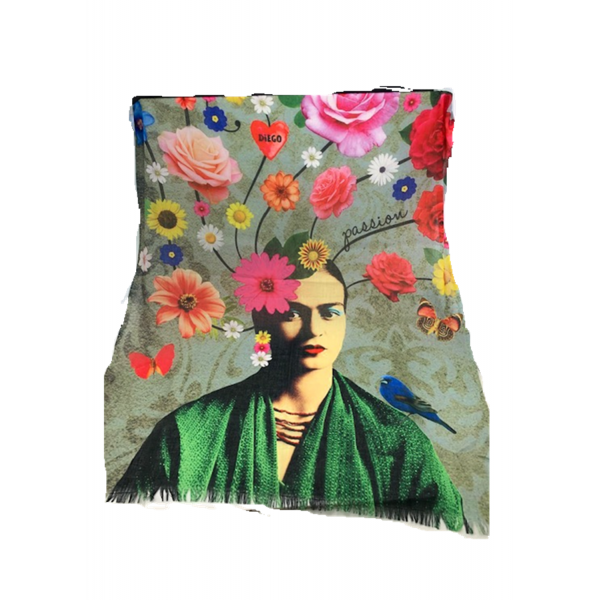 Digital Print Fine Cotton Frida Scarf TTPC38
